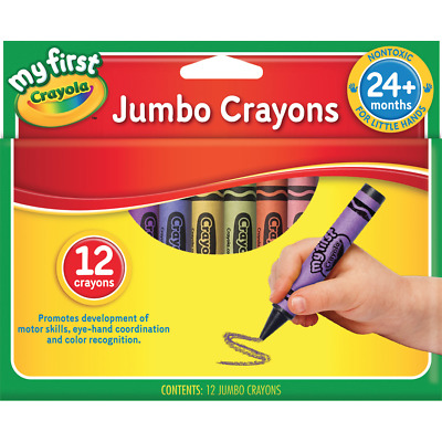 12PC Crayola My First Jumbo Crayons Non Toxic Made for Little Hands Age 2+