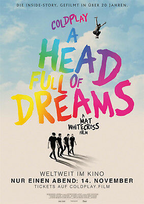 COLDPLAY - A HEAD FULL OF DREAMS ~ Filmposter A1