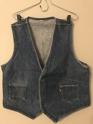 Vintage orange tab Levi's Western Denim Vest (Large)