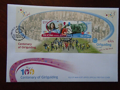 Isle of Man FDC 2010 Girl Guide m/s