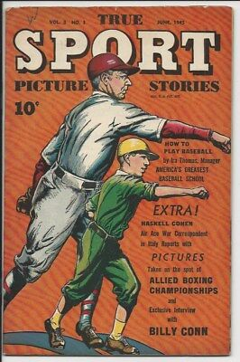 1945 S & S True Sport Picture Stories Vol. 3 #1 VF