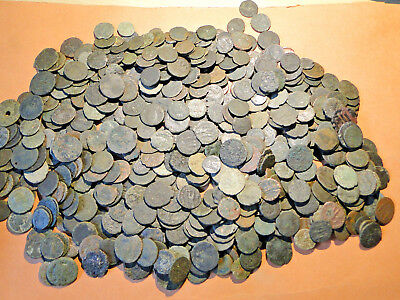 10 Unresearched Roman Bronze Coins, lower grade