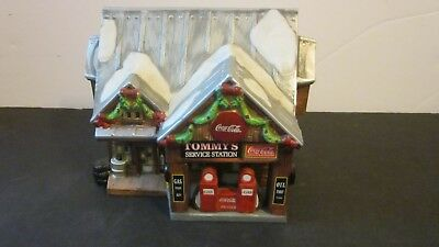 Coca Cola Town Square Collection Tommy's Service Station 1998