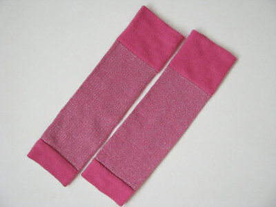 The Children's Place TCP Bright Pink Sparkle Leg Warmers girls 4 5 6 7 8 10 12