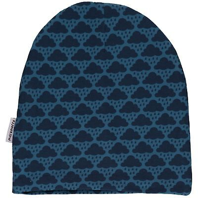 Blue cloud organic cotton beanie hat Maxomorra 12 18-24 2 3 4 5 6 7 8 9 10