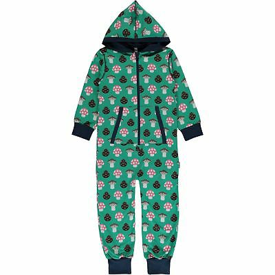 Maxomorra ~ Mushroom hooded one piece organic cotton  | 2 3 4 98/104