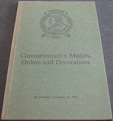 Christie's Commemorative Medals, Orders And Decorations November 1971 Scarce