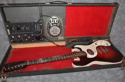 Too cool! Vintage 1965 Silvertone Model 1457 Electric Guitar w/ Amp In Case! NR