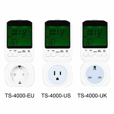 Multi-functional Thermostat Timer Switch Socket with Big LCD Display with Sensor