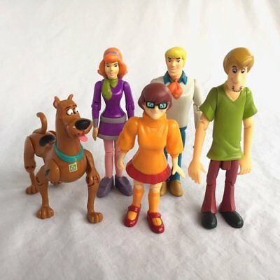 SCOOBY-DOO, Daphne, Fred, Velma, Shaggy Action Poseable Figures Lot Of 5