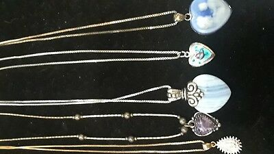 sterling necklace lot