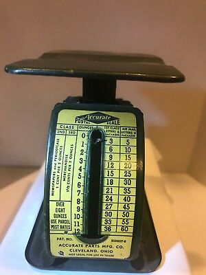 VTG Postal Scale - Accurate Parts Mfg. Co., Cleveland Ohio