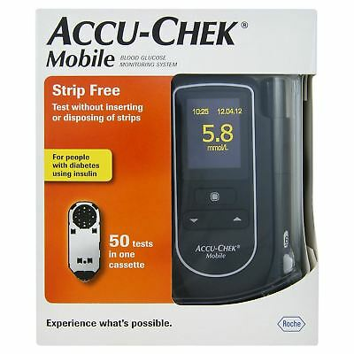 ACCU-CHEK MOBILE Blood Glucose Meter Monitor System with 50 tests - NEW