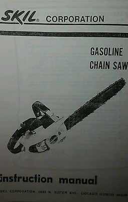 Skil 1614 1616 Chain Saw Owner Parts Manual 2 Books 14pg