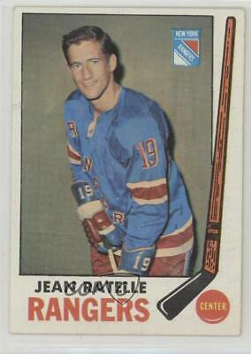 dd8b05b33 JEAN RATELLE Vintage INDEX CARD signed autographed New York Rangers ...