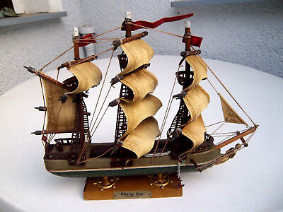 Altes Modell Segelschiff Whaling Ship Clipper 1846