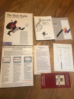 Apple IIgs The Music Studio box + manual + inserts ONLY (no disk)