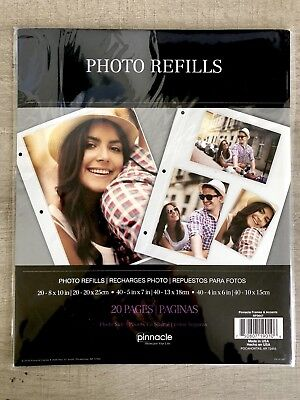 Pinnacle Magnetic Photo Album Refills4 2sided Pages Pack