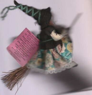 Fun Vintage Kitchen Witch from Austria Used with  Original Tag