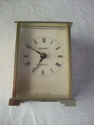 Vintage Metamec Mantle/Carriage Clock Quartz Restoration Project/Spare/Repair
