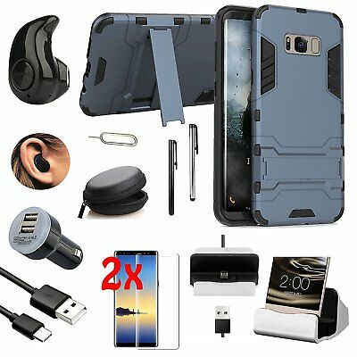 Black Kickstand Case Cover Bluetooth Headset Accessory For Samsung Galaxy Note 8