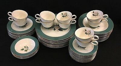 """Century Service """"Emerald"""" China - Set of 54 pieces - Beautiful Condition"""