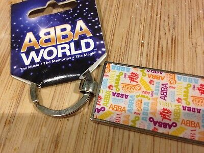 ABBA Abbaworld key ring mint with tags