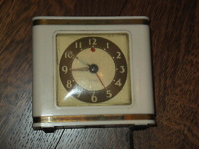 Vintage Westclox 'Bachelor' electric alarm clock. 1940s  works well