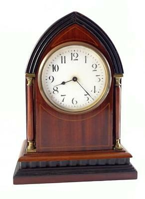 Vintage Edwardian Lancet Mantle Clock By Duverdrey & Bloquel, France - Running