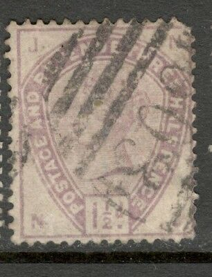 "Queen Victoria - SG 188 - 1 1/2d. - Lilac - Used - Letters ""J N"""