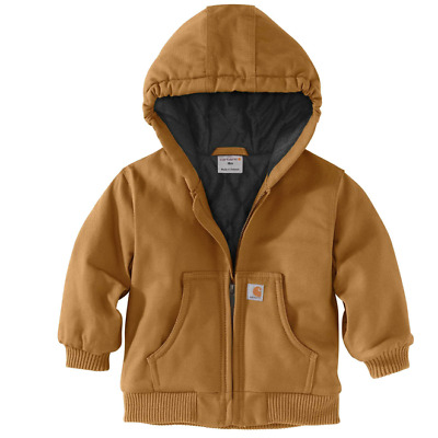 1c8d1dd35 NEW! CARHARTT BOY S Canvas Flannel Quilt Lined Active Jac Jacket 6 ...