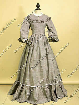 Civil War Victorian Dickens Country West Prairie Dress Theater Reenactment 260