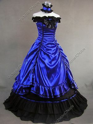 28303be13a54c Southern Belle Victorian Saloon Girl Dress Masquerade Ball Gown Steampunk  135