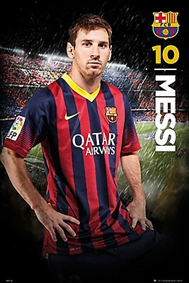 "Lionel Messi - Barcelona FC - Soccer Poster - 24"" X 36""- NEW"