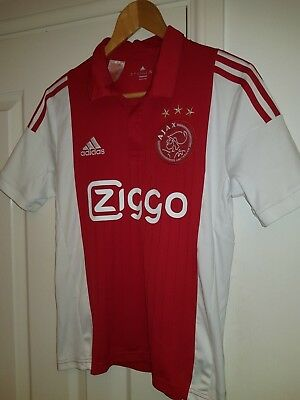 AJAX Home Football Shirt Kid's 13-14 Years Soccer Jersey ADIDAS Red / White Top