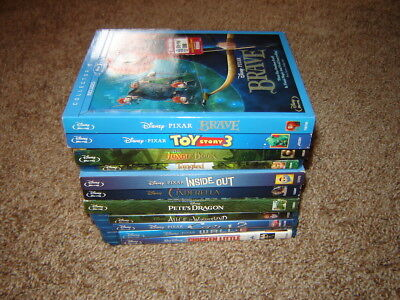 Disney Blu-ray lot -   Brave , Cinderella ,Tangled,Jungle book.Toy story 3 and m