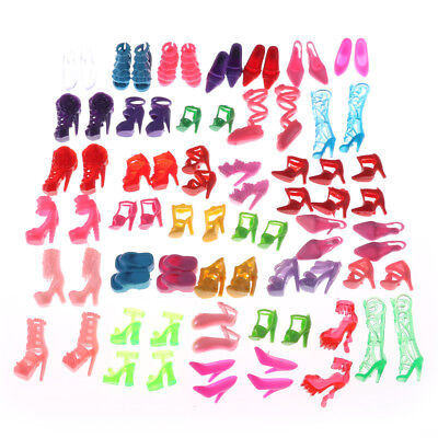 80pcs Mixed Different High Heel Shoes Boots for Doll Dresses Clothes XU