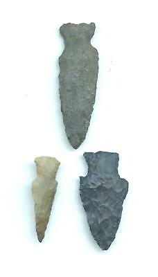 Indian Artifacts- 3 Nice Points-Arrowheads