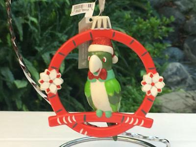 Disney Parks Adventureland Enchanted Tiki Room Parrot Christmas Ornament NWT