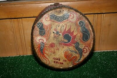 Antique Ludwig Chinese china Dragon Drum Hand Painted