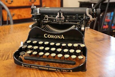 Vintage 1917 Folding Corona Portable Model 3 Typewriter Antique