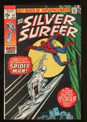 Silver Surfer (1968 series) #14 in VF minus condition. Marvel comics [*0i]