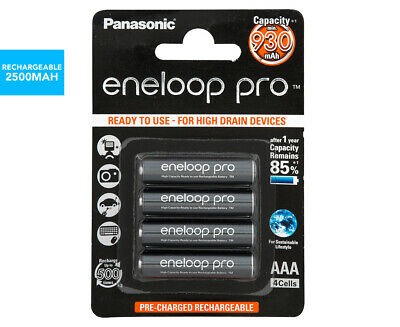 Panasonic Eneloop Pro Rechargeable AAA Batteries 4-Pack