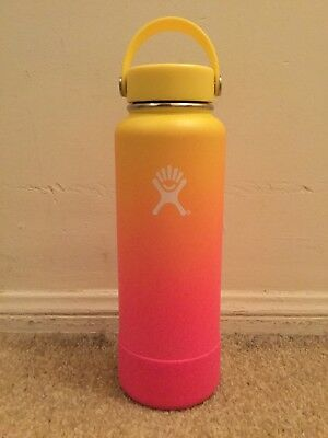 NEW Limited Sunset Flamingo Ombre Hydro Flask Hydroflask 40Oz w/Lid Hawaii PNW