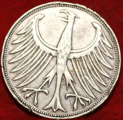 1951-J Germany 5 Mark Silver Foreign Coin