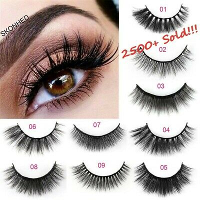 5 Pairs 3D Mink Hair False Eyelashes Wispy Cross Long Lashes Makeup Soft Hair