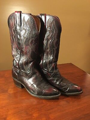 228e0e29684 LUCCHESE 2000 COWBOY Boots Size 5 1/2C, 5.5C Men's/Kids/Boys Brown/Red