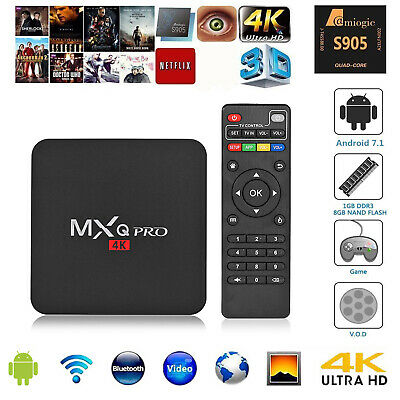 MXQ PRO Android 7.1 Quad Core 1+8G Smart TV Box 4K WIFI Set-top Box Media Player