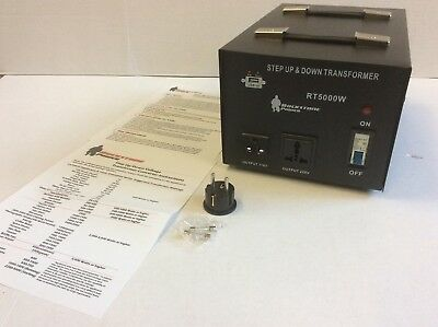 Rockstone Power 5000 Watt Heavy Duty Step Up/Down Voltage Transformer Converter