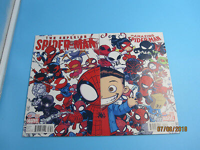 Amazing Spider-Man #9 Superior Spider-Man #32 YOUNG SPIDER VERSE variants Marvel